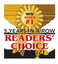 5 year in a row Readers' Choice Award